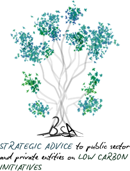 bsa tree poster - strategic advice to public sector and private entities on low carbon initiatives
